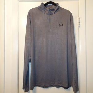 Under Armor 1/4 Zip Long Sleeve Shirt | Gray | XXL